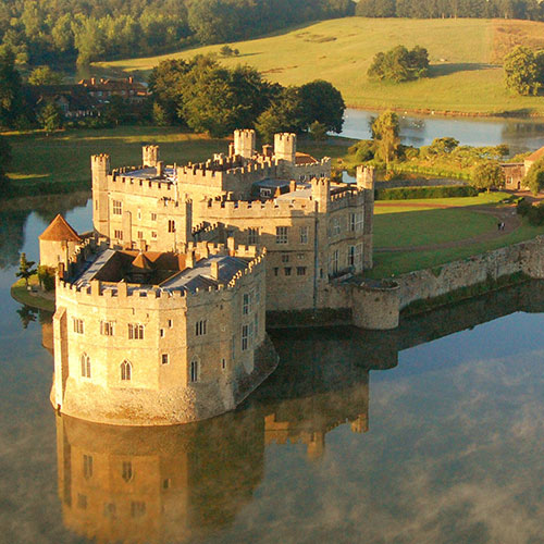 Aerial shot of Leeds Castle